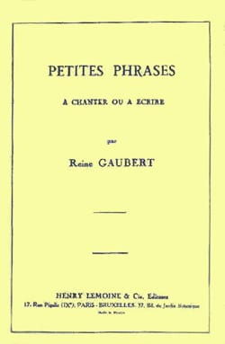 Petites Phrases (150 Ex.) S/A - Gaubert - Partition - laflutedepan.com