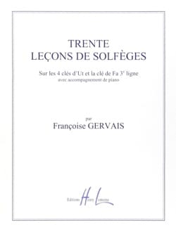 Françoise Gervais - 30 Lessons in Solfegation - 5 Keys A / A - Sheet Music - di-arezzo.co.uk