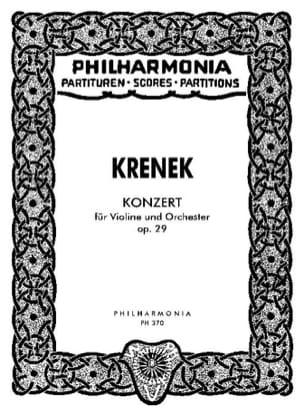 Konzert für Violine op. 29 - Partitur Ernst Krenek laflutedepan