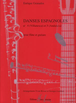 Enrique Granados - Spanish Dances No. 4 and 5 - Flute - Sheet Music - di-arezzo.com
