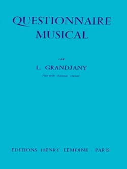 L. Grandjany - Music questionnaire - Sheet Music - di-arezzo.co.uk