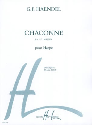 HAENDEL - Chaconne - Harp - Sheet Music - di-arezzo.co.uk