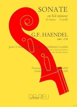 Georg Friedrich Haendel - Sonate en sol mineur - 2 Cellos piano - Partition - di-arezzo.fr