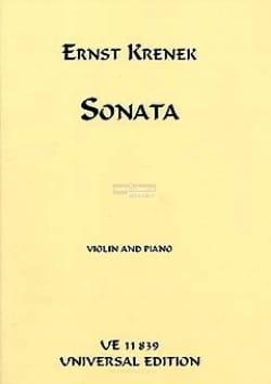 Ernst Krenek - Sonata – Violin piano - Partition - di-arezzo.fr