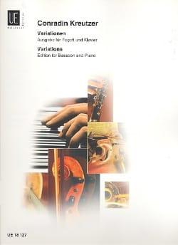 Variations Conradin Kreutzer Partition Basson - laflutedepan