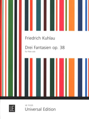Friedrich Kuhlau - 3 Fantaisies Opus 38 - Flûte solo - Partition - di-arezzo.fr