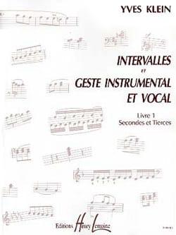 Yves Klein - Intervalos y gestos ... - Libro 1 - Partitura - di-arezzo.es