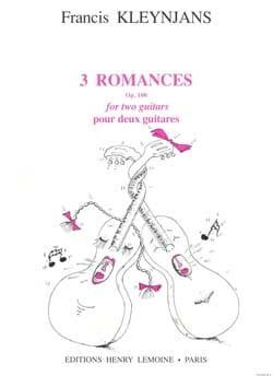 3 Romances, op. 100 Francis Kleynjans Partition Guitare - laflutedepan