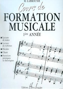 Marguerite Labrousse - Musical Training Course - Volume 1 - Sheet Music - di-arezzo.com