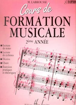 Marguerite Labrousse - Cours de Formation Musicale - Volume 2 - Sheet Music - di-arezzo.co.uk
