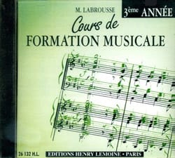 Marguerite Labrousse - CD - Cours de Formation Musicale Volume 3 - Partition - di-arezzo.fr