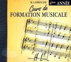 Marguerite Labrousse - CD - Cours de Formation Musicale Volume 4 - Partition - di-arezzo.fr