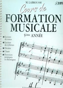 Marguerite Labrousse - Cours de Formation Musicale - Volume 5 - Partition - di-arezzo.fr