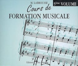 Marguerite Labrousse - CD - Cours de Formation Musicale Volume 5 - Partition - di-arezzo.fr