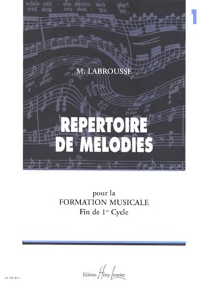 Marguerite Labrousse - Melodies Directory - Volume 1 - Sheet Music - di-arezzo.co.uk