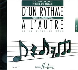 Elisabeth LAMARQUE et Marie-José GOUDARD - CD - D'un Rythme A L'autre Volume 2 - Partition - di-arezzo.fr