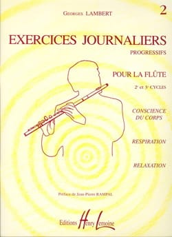 Exercices Journaliers Volume 2 Georges Lambert Partition laflutedepan