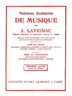 Notions scolaires - Volume 1 - Elève Lavignac Partition laflutedepan