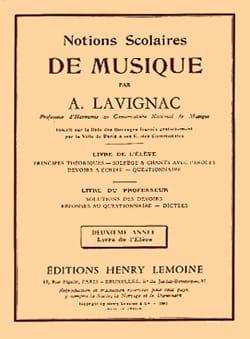 Notions scolaires - Volume 2 - Elève - Lavignac - laflutedepan.com