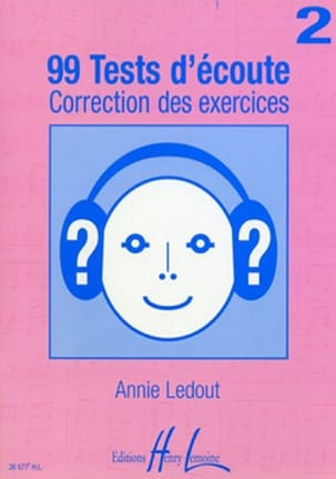 Annie Ledout - 99 Listening tests - Answers - Volume 2 - Sheet Music - di-arezzo.com