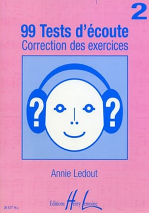 Annie Ledout - 99 Listening tests - Answers - Volume 2 - Sheet Music - di-arezzo.co.uk