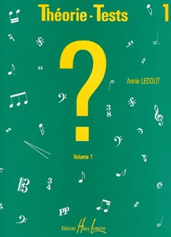 Annie Ledout - Theory-Tests - Volume 1 - Sheet Music - di-arezzo.com