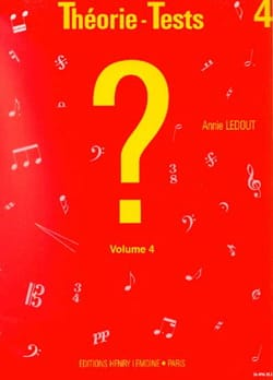 Annie Ledout - Theory-Tests Volume 4 - Sheet Music - di-arezzo.com