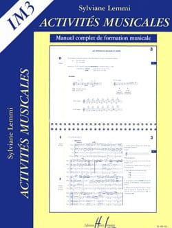 Activités musicales - Im3 Sylviane Lemmi Partition laflutedepan