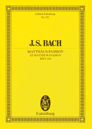 Passion selon Saint Mathieu Bwv 244 BACH Partition laflutedepan