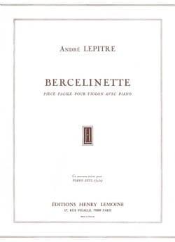 Bercelinette - André Lepitre - Partition - Violon - laflutedepan.com