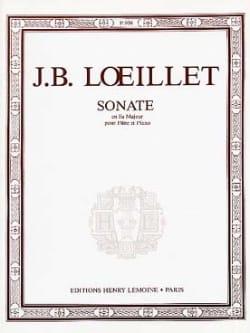 de Gant Jean Baptiste Loeillet - Sonate en fa majeur – Flûte piano - Partition - di-arezzo.fr