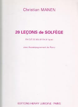 Christian Manen - 20 Lessons - 2 Keys - A / A - Sheet Music - di-arezzo.co.uk