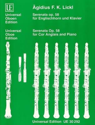 Serenata Op. 58 - Agidius F. Lickl - Partition - laflutedepan.com