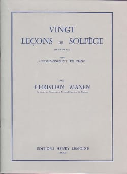Christian Manen - 20 Lessons - Treble Clef - A / A - Sheet Music - di-arezzo.co.uk