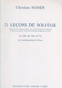 21 Leçons - 2 Clés - A/A Christian Manen Partition laflutedepan