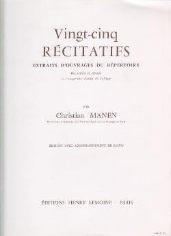 Christian Manen - 25 Recitatives - Sheet Music - di-arezzo.co.uk