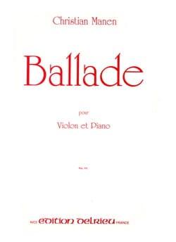Ballade op. 128 - Christian Manen - Partition - laflutedepan.com