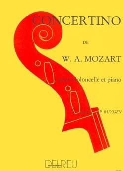 Concertino MOZART Partition Violoncelle - laflutedepan