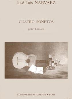 José- Luis Narvaez - 4 Sonetos - Partition - di-arezzo.fr