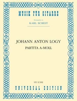 Johann Anton Logy - Partita A-Moll –guitarre - Partition - di-arezzo.fr