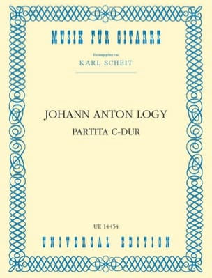 Partita C-Dur -Gitarre - Johann Anton Logy - laflutedepan.com
