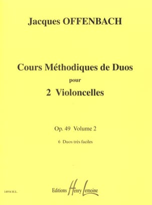 Jacques Offenbach - Cours Duos Cello, op. 49 Liv. 2 - Sheet Music - di-arezzo.co.uk