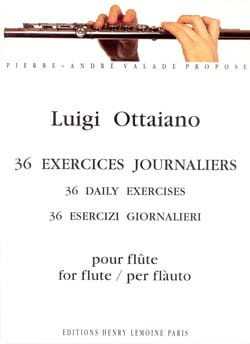 Luigi Ottaiano - 36 Exercices journaliers - Flûte - Partition - di-arezzo.fr