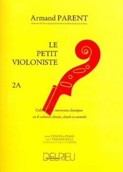 Le Petit Violoniste Volume 2A Armand Parent Partition laflutedepan