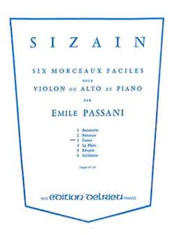 Emile Passani - Sizain n° 3 : Danse - Partition - di-arezzo.fr