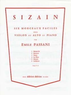 Emile Passani - Sizain n° 5 : Rêverie - Partition - di-arezzo.fr