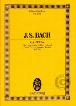 Johann Sebastian Bach - Nun komm, der Heiden Heiland - Partition - di-arezzo.fr