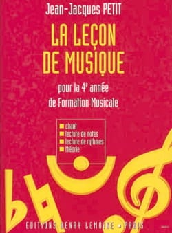 Jean-Jacques Petit - The Music Lesson - 4th Year - Sheet Music - di-arezzo.com