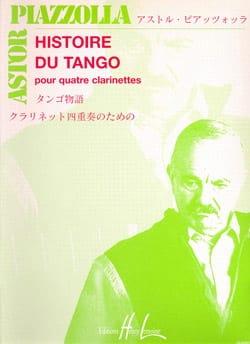 Astor Piazzolla - Histoire du tango - 4 Clarinettes - Partition - di-arezzo.fr