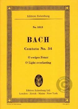 Johann Sebastian Bach - Cantata O Ewiges Feuer BWV 34 - Partition - di-arezzo.fr